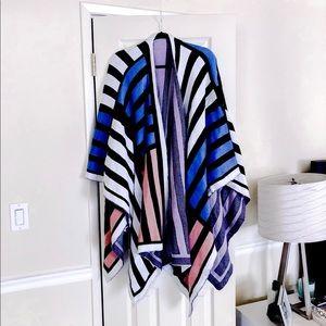 ASOS heavy knit stripe cape